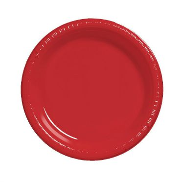 Red Plastic Plates