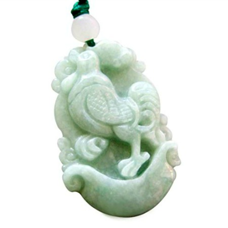 Jade Rooster Pendant Necklace